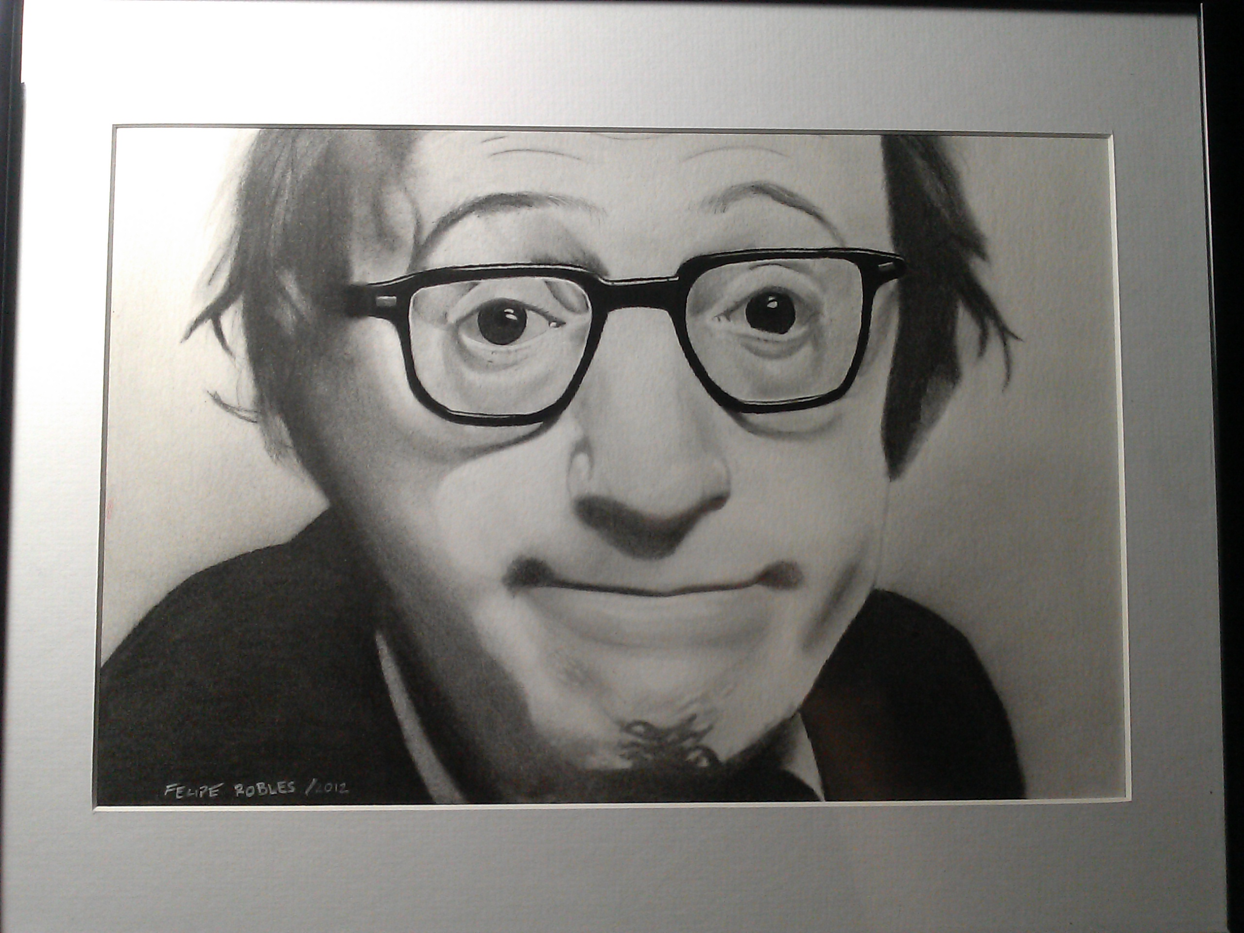 Woody Allen Drawing Woody Allen Drawing