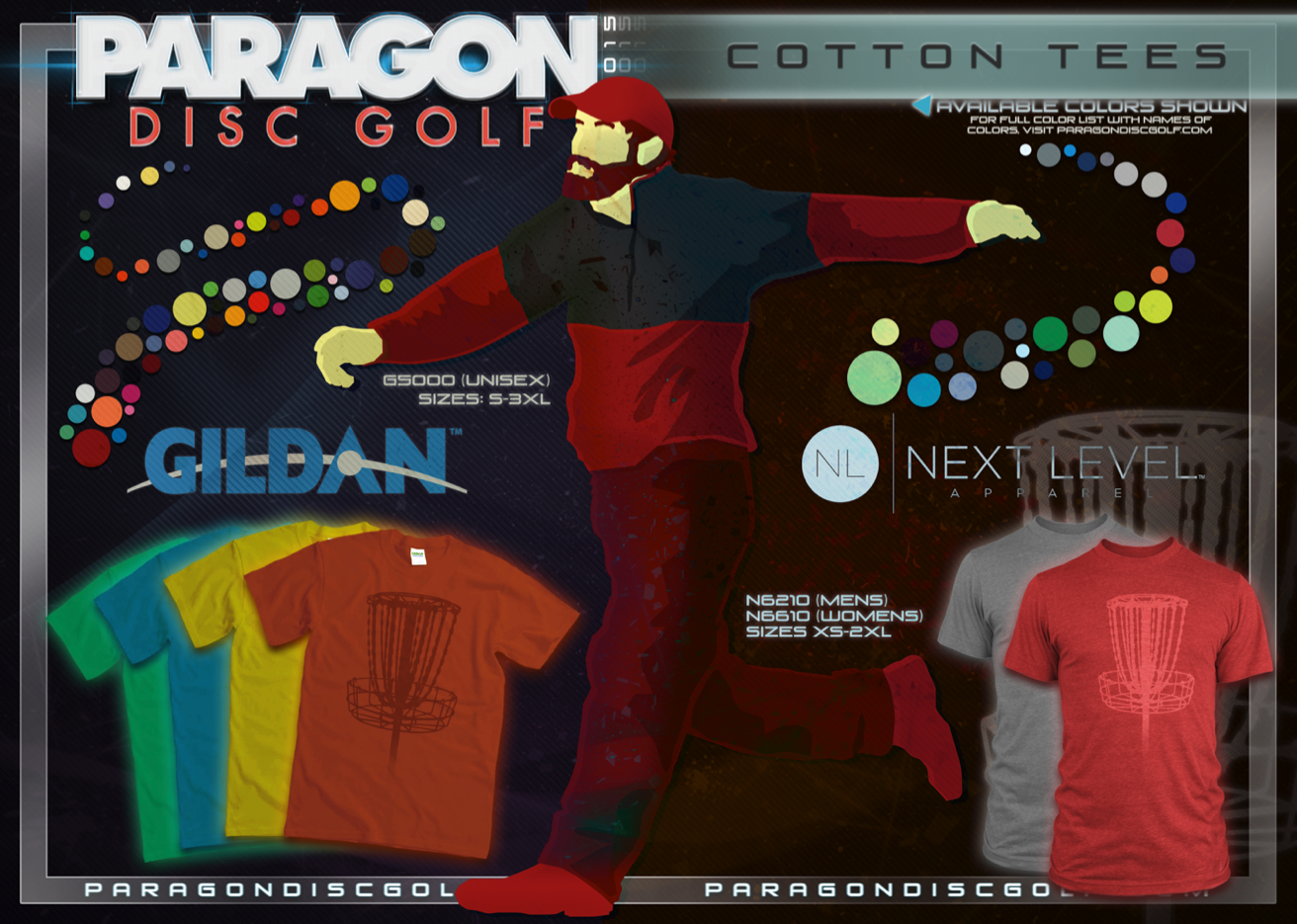 50 custom printed next level t shirts paragon disc golf Next level printed shirts