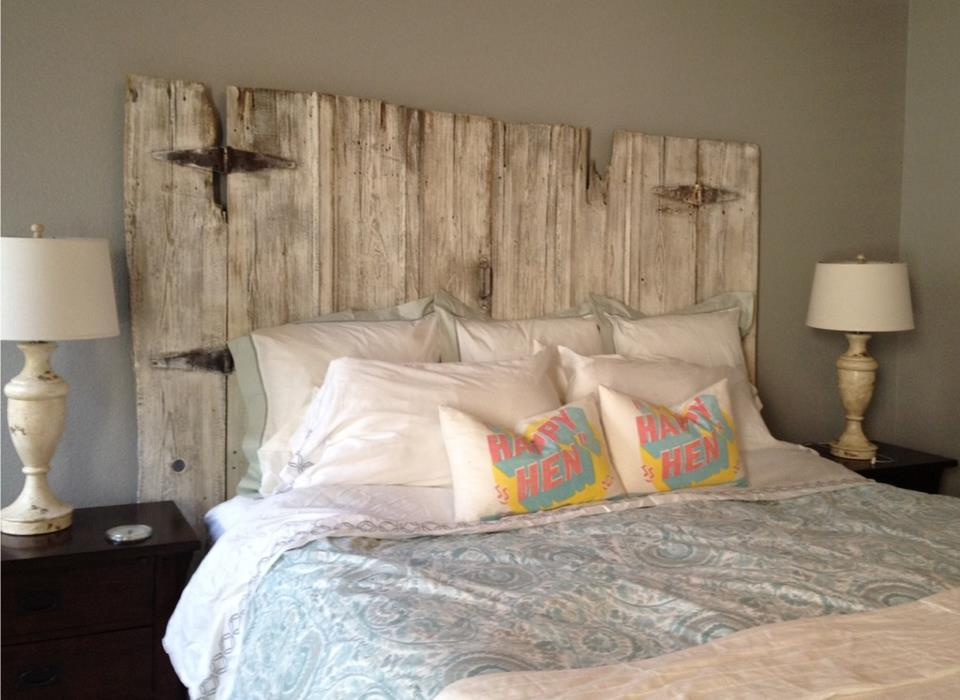 Vintage Headboards | Full Length Distressed Barn Wood Style Headboard ...
