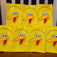 Sesame Street Felt Party Favor Bag Assortment - 1 of Each (Elmo, Cookie Monster and Big Bird) - Thumbnail 3