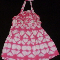 Pink/White Halter Top Dress-Cherokee Size 12 Month