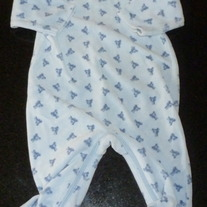 Blue Velour Sleeper-Baby Gap Size Up to 3 Months