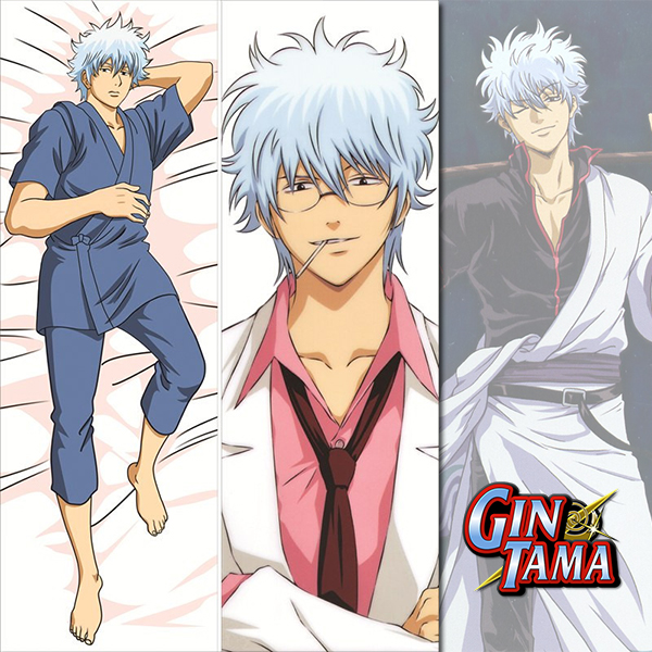 Anime Gintama Sakata Gintoki Dakimakura Hugging Body Pillow case 150*50