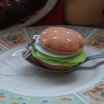 Kawaii Burger Cellphone Plush