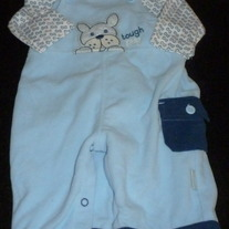 Blue Romper with Matching Shirt-Baby B'gosh Size 3 Months