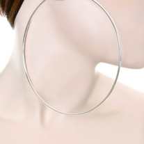 Oversized Hoop Earrings - Silver