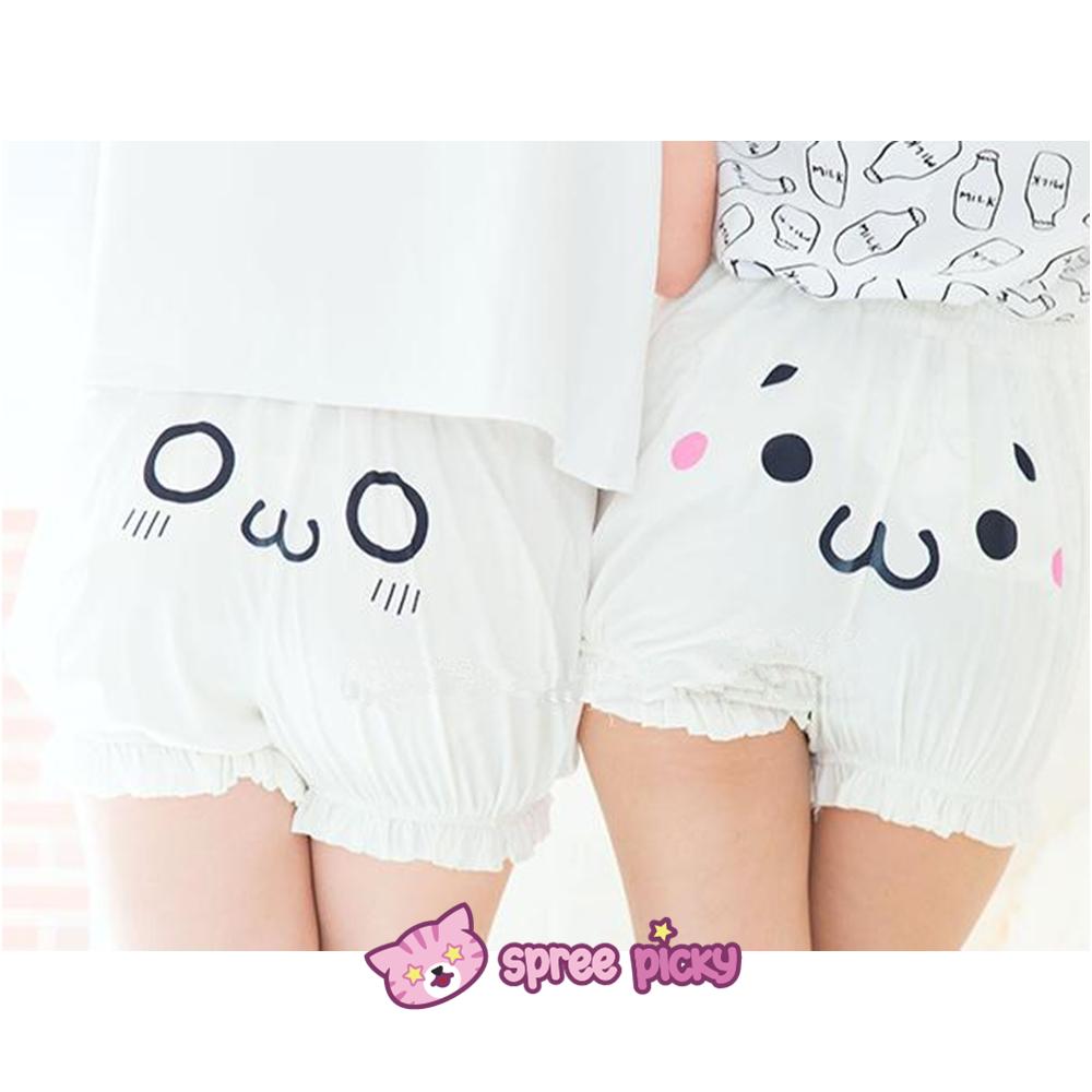 6 emoji kawaii emoji cotton bloomer with elastic sp141247 thumbnail 1