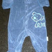 Blue Sleeper with Dog-Baby B'Gosh Size 3 Months