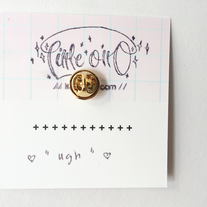 """Ugh"" Banner Pin  medium photo"