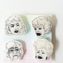The Golden Girls Collection Illustrated Pins   medium photo