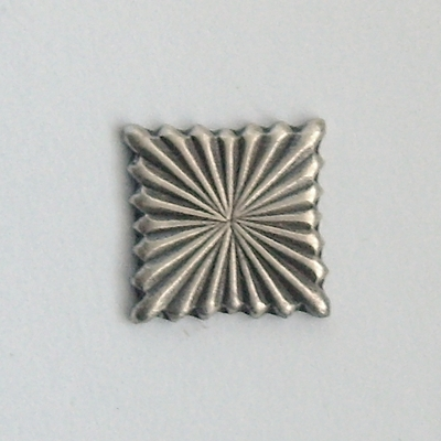Square stampings oxidized silver