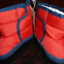 Red/Navy Snow Boots-NEW-Old Navy Size 6-12 Months