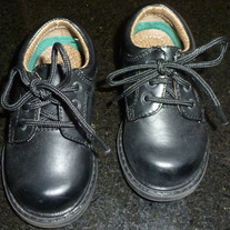 Black Lace Up Dress Shoes (Boy)-Sprockets Size 5