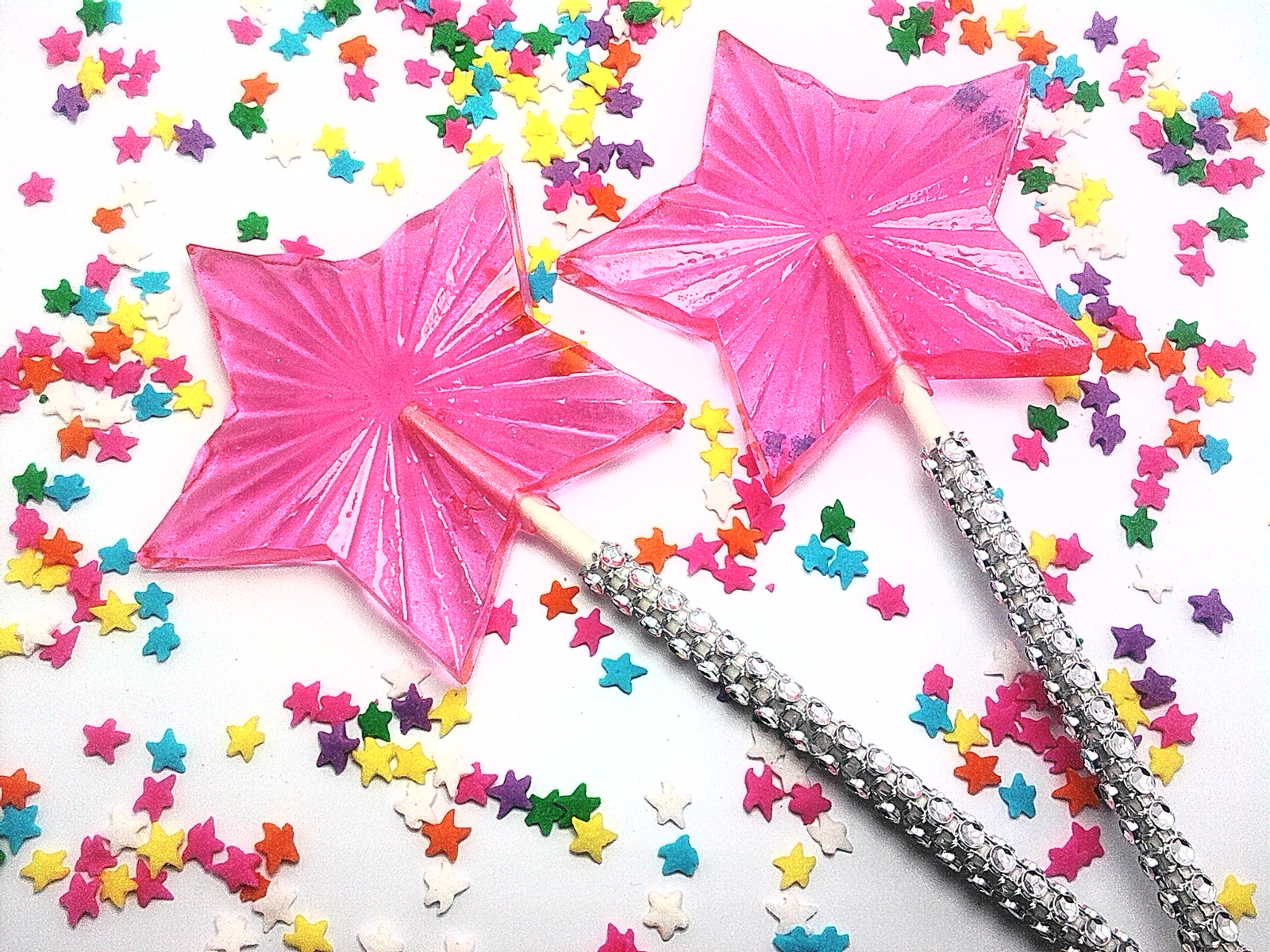 12 BLING RADIANT STAR LOLLIPOPS - Featured in Brides Magazine ...