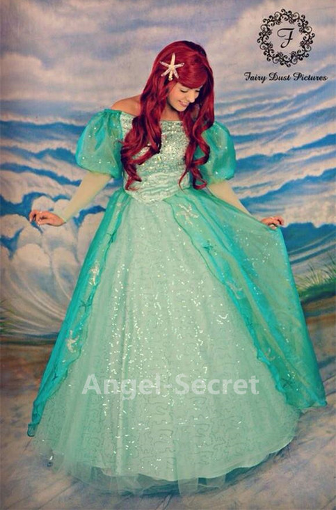 p142 ariel sequins teal sea star crystal angel secret
