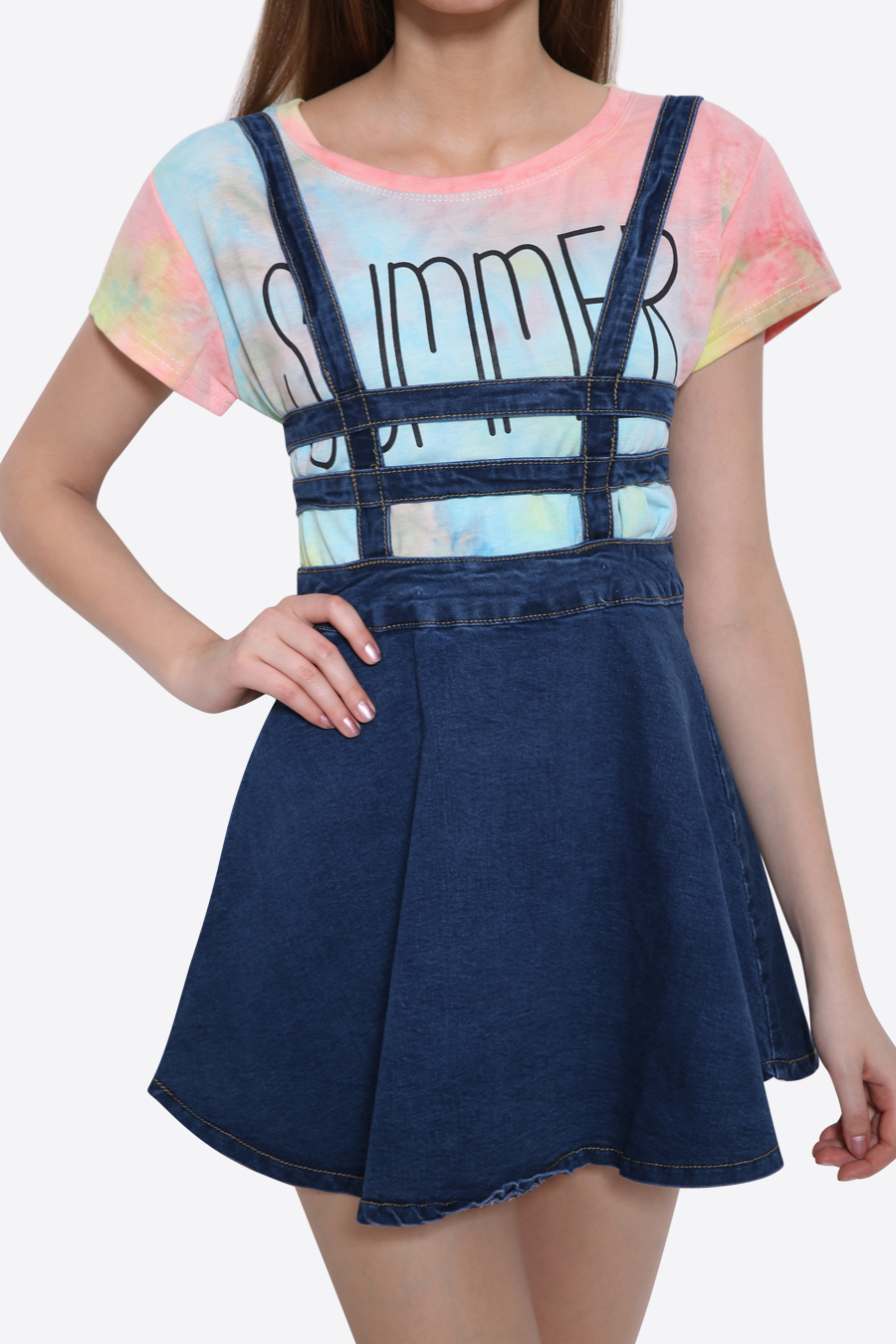 new summer suspender denim skirt 183 moooh 183