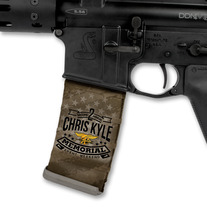 Chris Kyle Memorial Logo over Tan US Flag medium photo