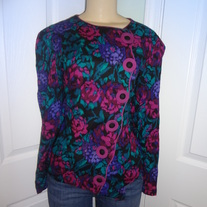 Vintage Plus Size Pink and Green top Size 14-16!!