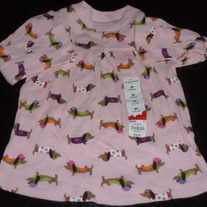 Long Sleeve Pink Dog Shirt-NEW-Jumping Beans Size 2T