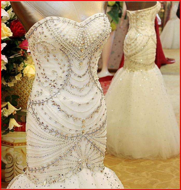 Yz new arrival gorgeous luxurious swarovski crystals for How to clean your own wedding dress