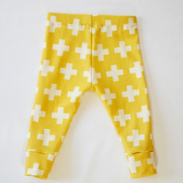 organic cotton plus three leggings in mustard