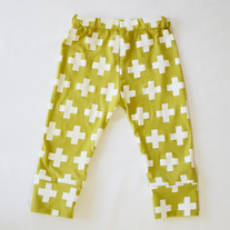cotton plus three leggings in chartreuse