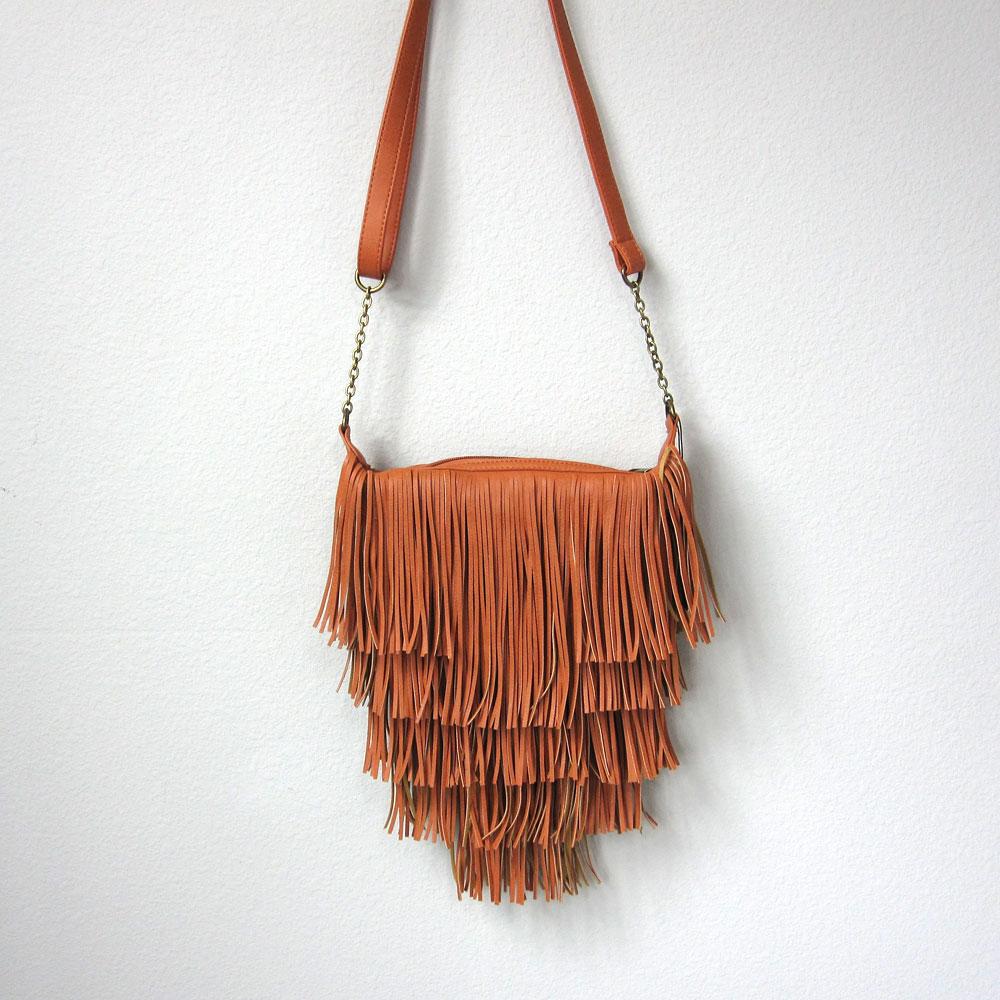 herme handbags - Vegan Leather Tan Fringe Layers Crossbody Purse, Handbag, Shoulder ...
