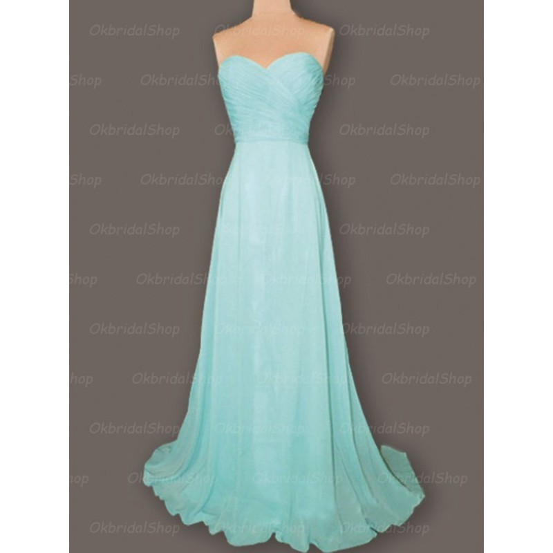 Tiffany blue bridesmaid dresses cheap bridesmaid dresses for Cheap chiffon wedding dresses