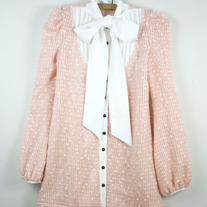 Pink Tunic with Bow Collar (Brand New)
