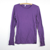 Purple Blank American Apparel Long Sleeve Top