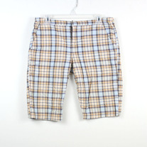 Plaid Bermuda Shorts by Lux
