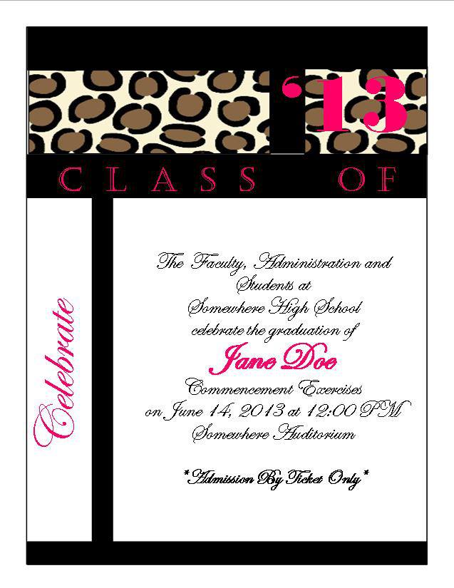 cheetah print graduation announcement 4 southern desktop