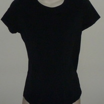 Black Round Neck Short Sleeve Shirt-Liz Lange Maternity Size Small  SF0413