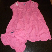 Pink Dress With Matching Bloomers-Baby Gap Size 18-24 Months  GS413