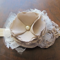 Taupe and Tan Paisley headband