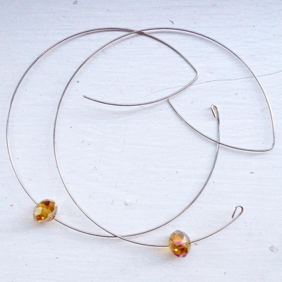 Wire hoop earrings, hoop earrings, various options.
