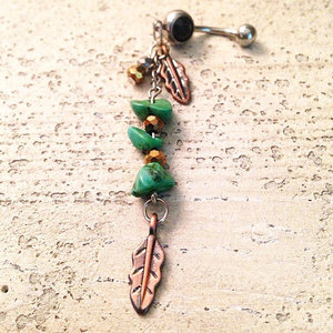 Amazonite Stone Belly Ring