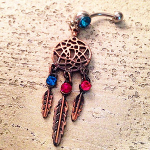 Copper Dream Catcher Belly Ring