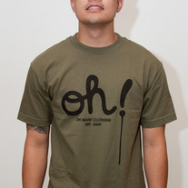 The Dripping Oh! Tee in Army