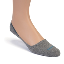 Grey No Show Socks - 2 Pack