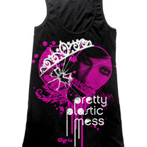"Girls Tank Top ""Pretty Plastic Mess"""