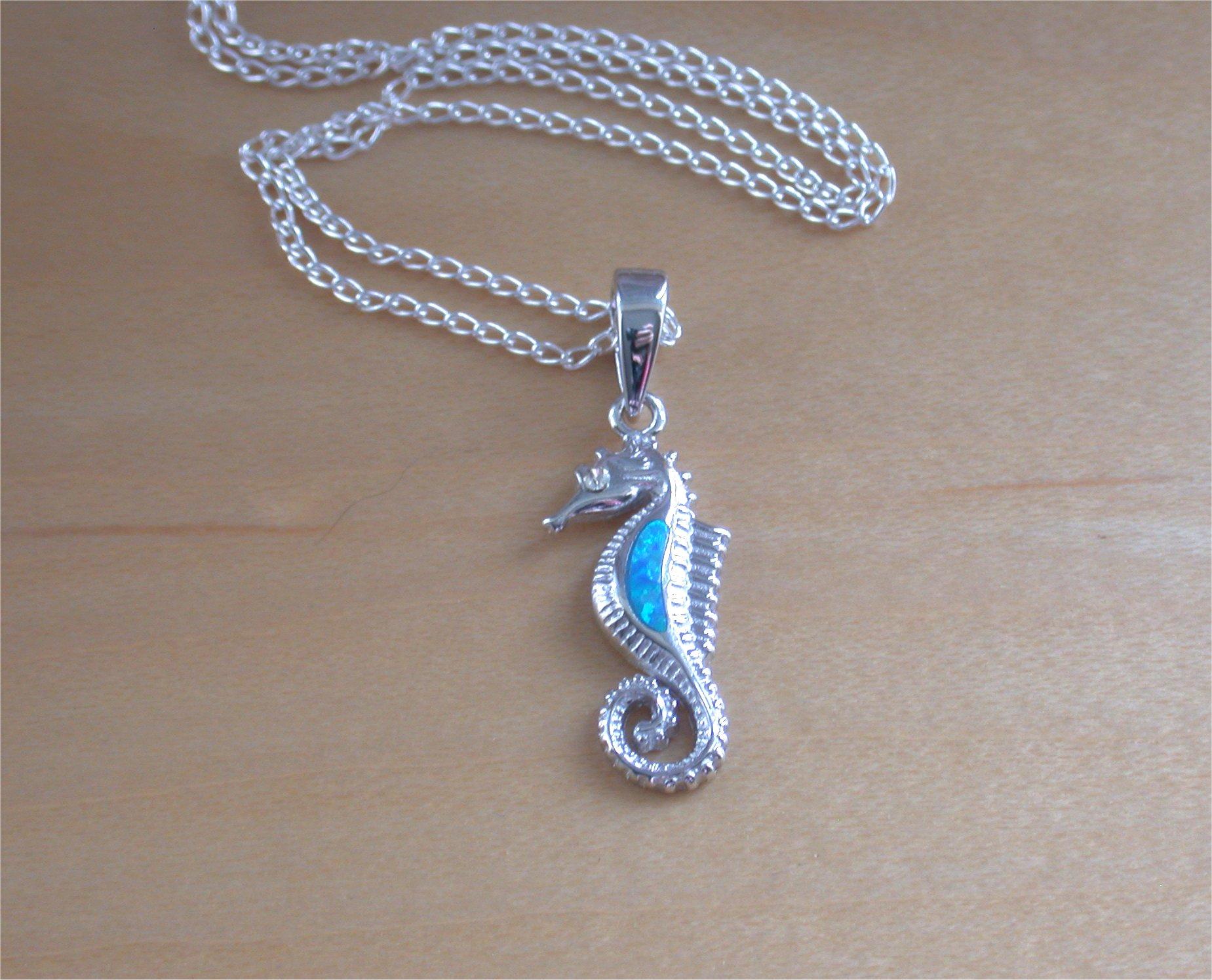 925 blue opal seahorse pendant 18 sterling silver chainopal 925 blue opal seahorse pendant 18 sterling silver chainopal jewelleryopal aloadofball Choice Image