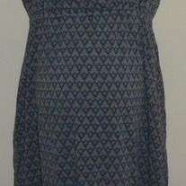 Gray/Blue Sleeveless Dress-Motherhood Maternity Size Medium  GS513