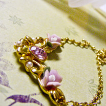 China Roses Necklace and Earring Set