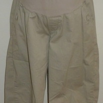 Long Khaki Shorts-Liz Lange Maternity Size Small  GS513