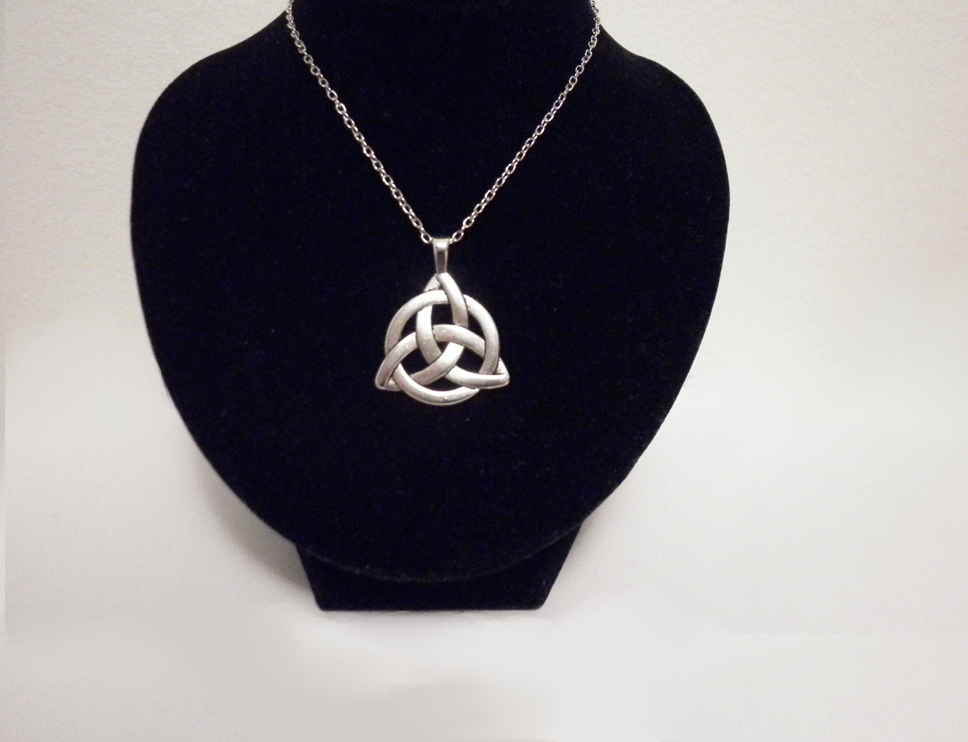 pagan triquetra wicca silver pendant celtic original knot celticknot necklace goth products