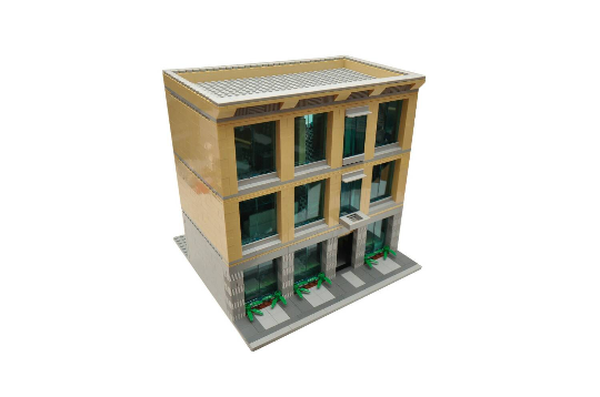 toy office. Custom City Office Building 3 Story Model Built With Real LEGO (R) Bricks Toy T