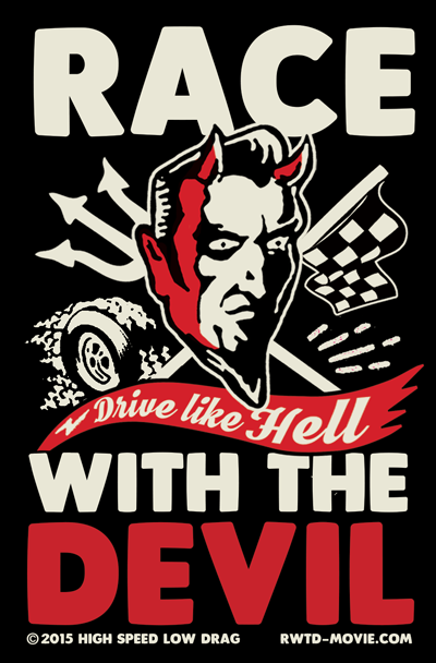 Race with the devil vintage sticker