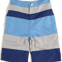 Appaman Boys Striped Swim Shorts - Galaxy/Blue