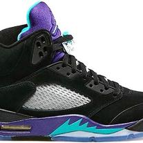 JORDAN 5 V BLACK GRAPES 136027-007